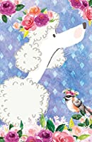 Journal Notebook for Dog Lovers White Poodle in Flowers: 162 Lined and Numbered Pages with Index Blank Journal for Journaling, Writing, Planning and Doodling.