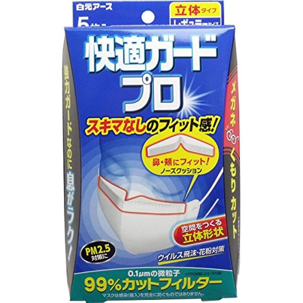 オーラル雪句【白元アース】快適ガード プロ 立体タイプ レギュラーサイズ 5枚入