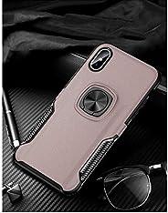 i Phone XRリング式TPUケースピンクゴールド強化ガラス&タッチペン付き362-2-4