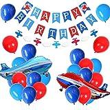 誕生日セット飾り 飛行機誕生日飾り 飾りつけ 風船 飛行機 男の子 誕生日 100日 半歳 一歳 パーティー happy birthdayバナー ガーランド アルミバルーン ラテックスバルーン