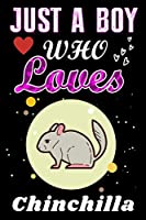 Just a Boy who loves Chinchilla: Chinchilla  Lover notebook or dairy, Perfect Chinchilla  lovers Notebook gift for Boy
