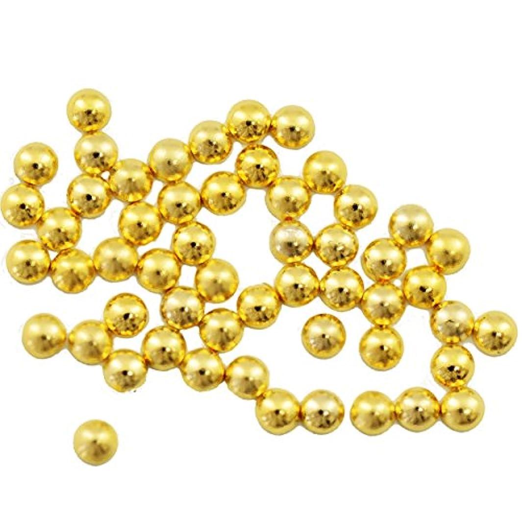 なんでも補助金承認するBuddy Style 丸 スタッズ メタルパーツ ネイルパーツ デコパーツ ゴールド2mm 50個入り