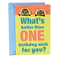(Minions, Birthday Wish) - Hallmark Birthday Greeting Card for Boy (Minions, Birthday Wish)