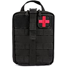 Bagail Molle Pouch Rip-Away EMT Pouch Ifak Pouch Medical First Aid Kit Utility Pouch 1000D Nylon