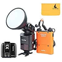 Godox Witstro AD360II-C TTLパワフルスピードライト・フラッシュ+ PB960リチウム電池ブラック+ X1C TTLトランスミッタ(キャノンEOSカメラ用)(AD360II-Cオレンジ+ X1C-T)