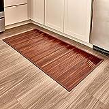 InterDesign Bamboo Floor Mat, Mocha, 24-Inch by 48-Inch
