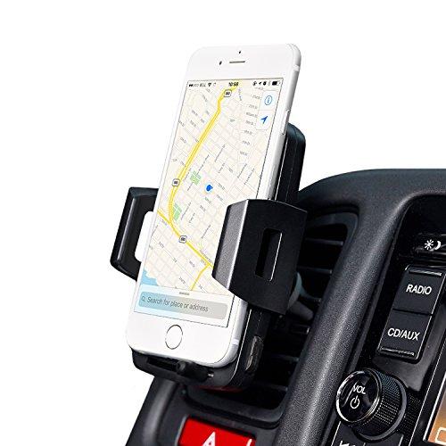 Zeelec CH3 車載スマホホルダー エアコン吹き出し口用 360度回転ワンタッチ iPhone Samsungなど対応でき(黒)