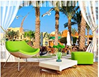 Bzbhart カスタム3D壁画壁紙牧歌的な風景滝風景高山水カモメ風景壁画家の装飾-120cmx100cm