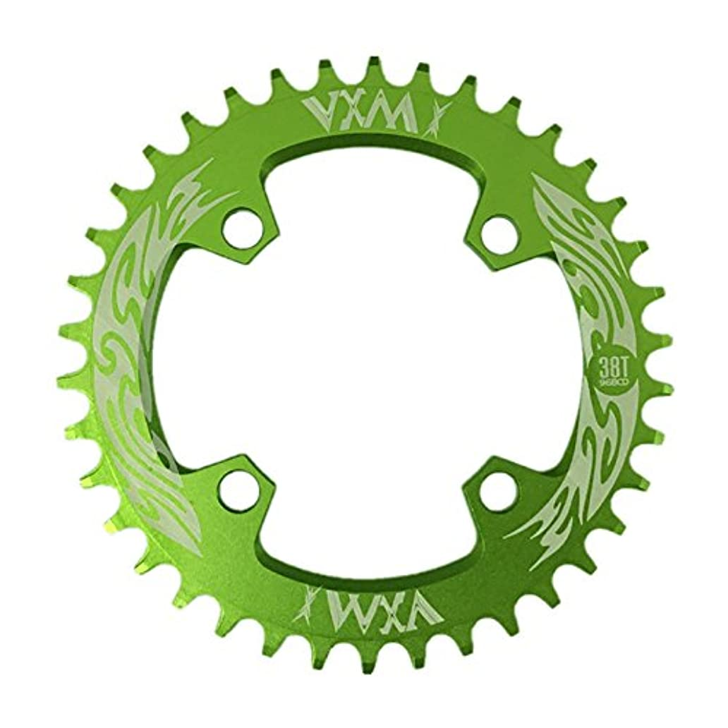 パック受賞ギャングPropenary - Bicycle Crank & Chainwheel 96BCD 38T Ultralight Alloy Bike Bicycle Narrow Wide Chainring Round Chainwheel Cycle Crankset [ Green ]