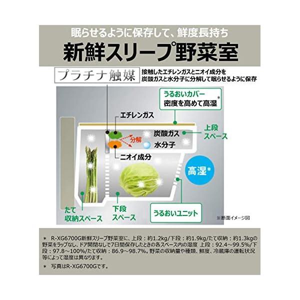 日立 冷蔵庫 430L 6ドア クリスタルホワ...の紹介画像6