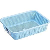 【20セット】 キッチンバスケット 収納カゴ 【Mサイズ】 ブルー 材質:PP メッシュ形状 『HOME&HOME』