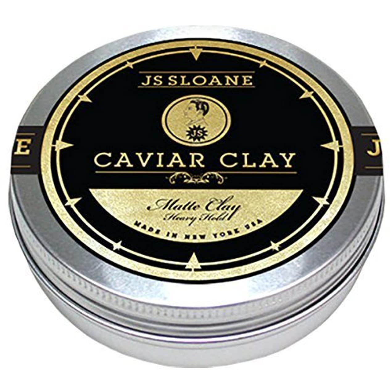 アピール子猫信じるジェイエススローン(JS Sloane) マットクレイポマード (MATTE CAVIAR CLAY POMADE) メンズ 整髪料 ヘアスタイリング剤 水性 ヘアグリース ツヤなし ストロングホールド