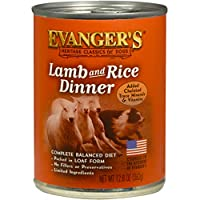 EVANGER'S 776479 Natural Classic Lamb and Rice Dinner for Dogs 13-Ounce, by Evangers