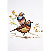 ArtzFolio Watercolor Bird Unframed Premium Canvas Painting 36 x 51.3inch