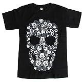 海外製品 ミッキー スカル プリント 半袖 パロディ tシャツ L [T549] メンズ レディース ロックTシャツ
