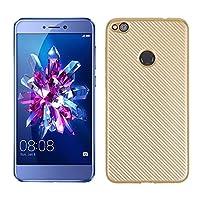 Huawei P8 Lite 2017 透明 シェル ウルトラ 薄いです アンチスリップ TPU カバー Phoebe 保護 シェル Accessories の バックシェル Huawei P8 Lite 2017 (Golden)