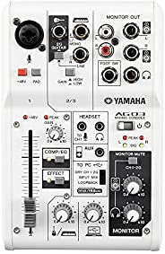 YAMAHA Web Casting 混音器 3頻道 AG03