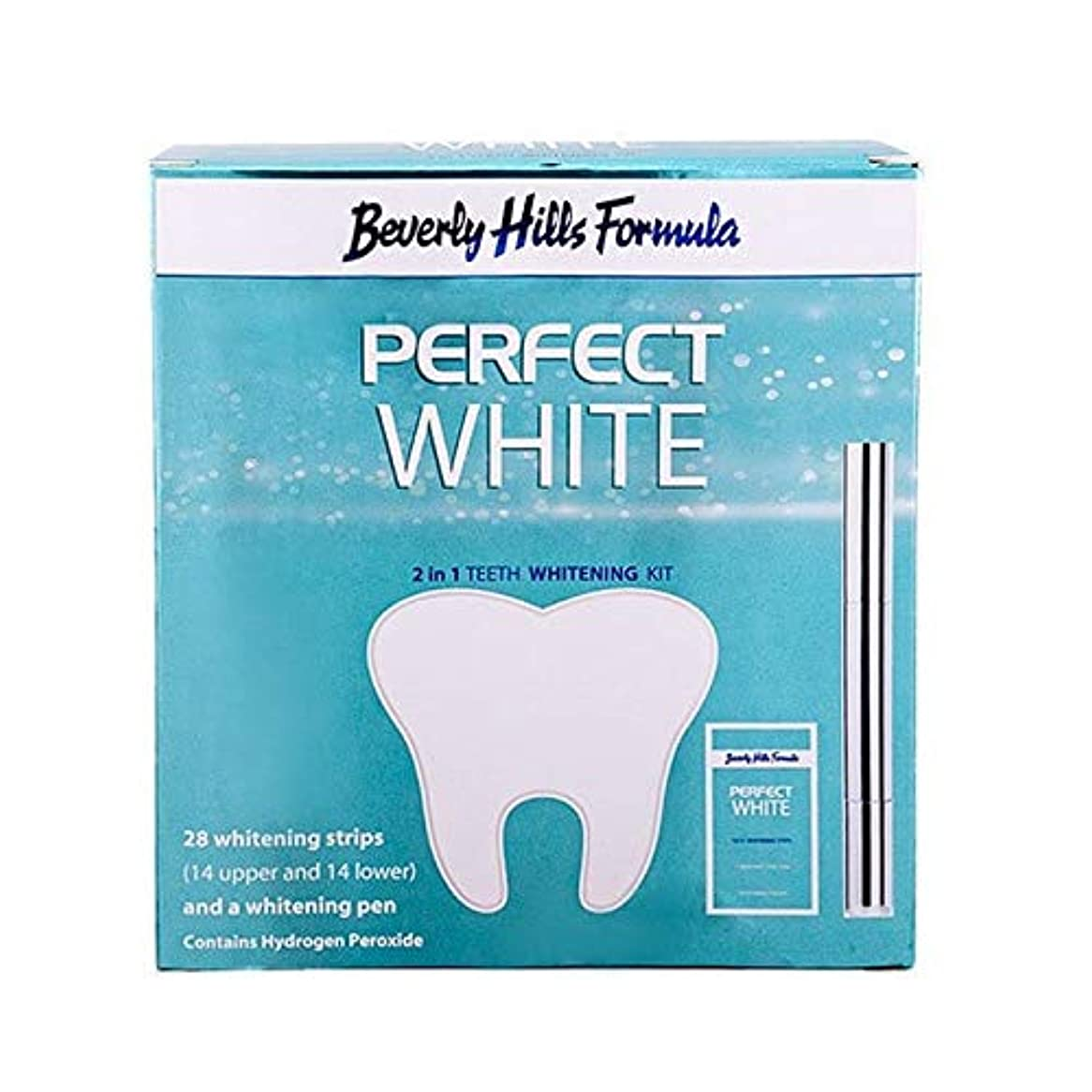 ストライプ連想やろう[Beverly Hills ] ビバリーヒルズ公式パーフェクトホワイト2 1でホワイトニングキット - Beverly Hills Formula Perfect White 2 in 1 Whitening kit...