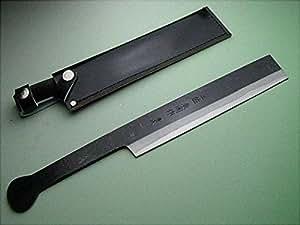 鉈 ナタ 柄 火造り鉈「極上」青紙鋼 共柄竹割り鉈180ケース入 両刃