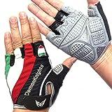 自転車 用 春 夏 サイクリング グローブ ( 手袋 ) / 3D 立体 ジェル入り (08 半指 サイズL)