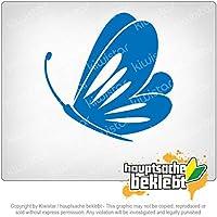 バタフライ butterfly 11cm x 10cm 15色 - ネオン+クロム! ステッカービニールオートバイ