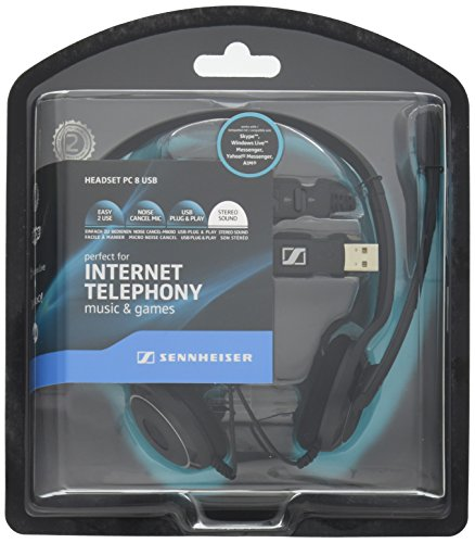 SENNHEISER (ゼンハイザー) PCヘッドセット ヘッドバンド型両耳式/ノイズキャンセルマイク PC 8 USB【国内正規品】 B006J3CSES 1枚目