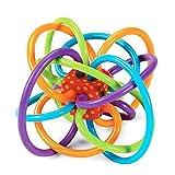 ING STYLE (イング スタイル) ベビー トレーニング玩具 オーボール 0歳から遊べる知育玩具 カラフル 全身運動 ストレス解消 握る 投げる 転がす かじる