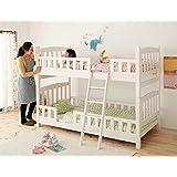 子供用 天然木コンパクト分割式2段ベッド シングルベッド2台にもなる【fine】ファイン (ホワイトウォッシュ)