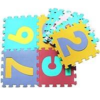 leegor 10pcsベビー子漫画Maths Foam Matsパズルビルディングブロック教育玩具クリスマスギフト