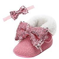 [Happy Cherry] 赤ちゃんシューズ ベビー靴 防寒靴 カジュアル 冬 かわいい お洒落 歩行練習靴 室内履き 出かけ 0~18 Month