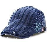 (ムコ) MUCO キャスケット ハンチング帽 欧米刺繍 オシャレ カジュアル レディース メンズ 調節可能 アウトドア UVカッド (6カラー) blue