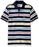 LACOSTE ボーイズ Lacoste Little Boys' Short Sleeve Multi Color Stripe Polo Shirt Penumbra/Multico 6 [並行輸入品]