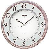 セイコー クロック 掛け時計 電波 アナログ 木枠 薄ピンク メタリック KX372P SEIKO