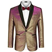 COOFANDY Mens Blazers Slim Fit Stylish Casual Notched Lapel Suit Coat One Button Suit Jacket