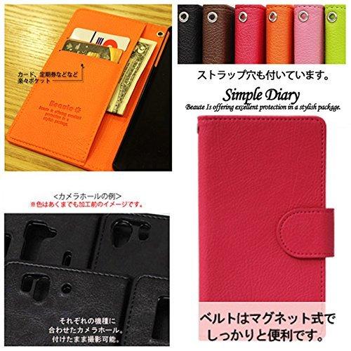 【ROCOCO】[WILLCOM DIGNO DUAL 2 KYOCERA WX10K ウィルコム 対応 Diary Case] WX10K 手帳型 ケース WX10K カバー 手帳 WX10K レザーケース WX10K スマホケース WX10K ダイアリーケース 人気 かわいい おすすめ 丈夫 収納 カード入れ Diary キャラクター 携帯 シンプル 無地 カラープール Color キャラクター 人気デザイン かわいい キャラクター★BROWN★