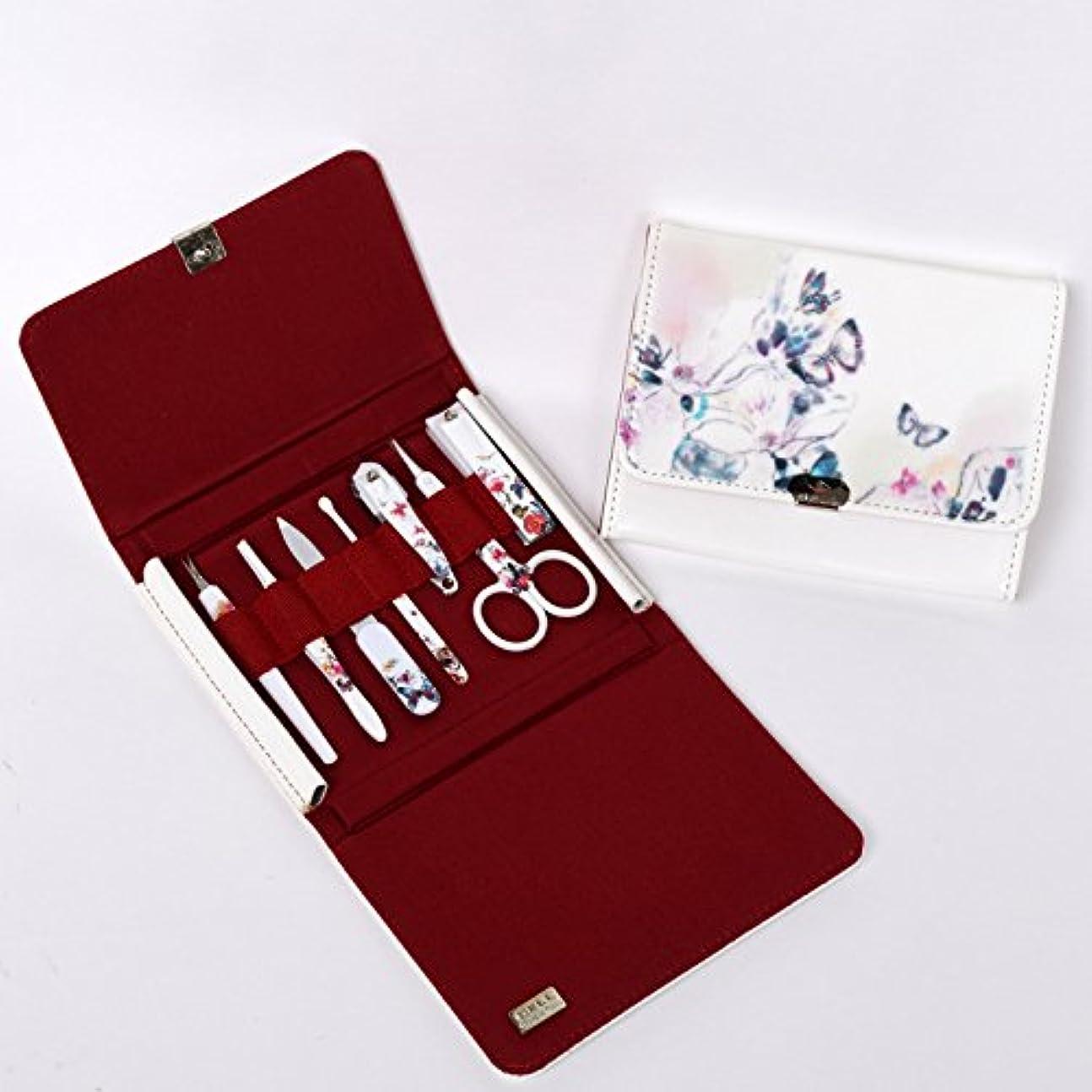 フレームワーク自分ロッドBELL Manicure Sets BM-270 ポータブル爪の管理セット 爪切りセット 高品質のネイルケアセット高級感のある東洋画のデザイン Portable Nail Clippers Nail Care Set