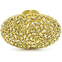 Luxury Evening Bags Rhinestones Clutch Purse Party Wedding Bag for Women,Gold,20 * 12 * 5CM