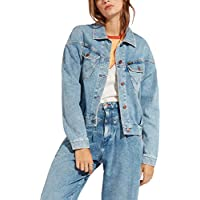 Wrangler Women's 80'S Western Denim Jacket Blue in size Medium