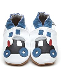 Soft Leather Baby Shoes Tractor [ソフトレザーベビーシューズのトラクター] 18-24 months (15 cm)