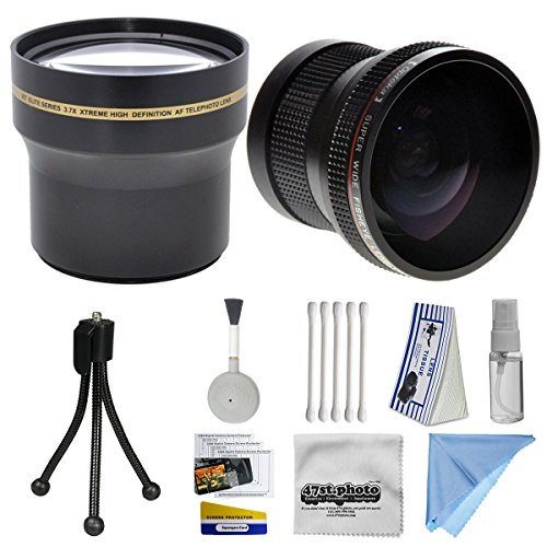 プロフェッショナル3.7X望遠レンズパッケージ 0.20X魚眼レンズfor Nikon 1aw1j1j2V1v2s1j3–Works with the Nikon 10–30mm / 30–110mm  11–27.5MMと10mmレンズにはX 3.7HDプロフェッショナル望遠レンズ+ 0.20X HD超広角パノラママクロ魚眼レンズレンズ+ボーナスデラックスレンズクリーニングキット+ 40.5MM - 52mmアダプターリング+ LCDスクリーンプロテクター+ミニ三脚+ 47stphotoマイクロファイバー布写真印刷