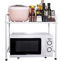 食器収納ラック 白い電子レンジ棚キッチン棚収納ラックオーブンラックキッチン用品