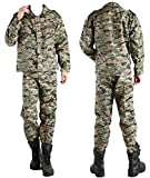 Earchco@(アーチコア) サバイバルゲーム 特殊部隊 戦闘服 迷彩服 デジタル モザイク タクティカル サバゲー ミリタリー 上下セット