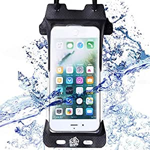 【完全防水 IPX8 スマホケース】防水ケース スマホ用 iPhone8 iPhone7 iPhoneSE 【 指紋認証対応 】海 プール お風呂 登山 釣り Sweetleaff (iphone6/6s/7/8)