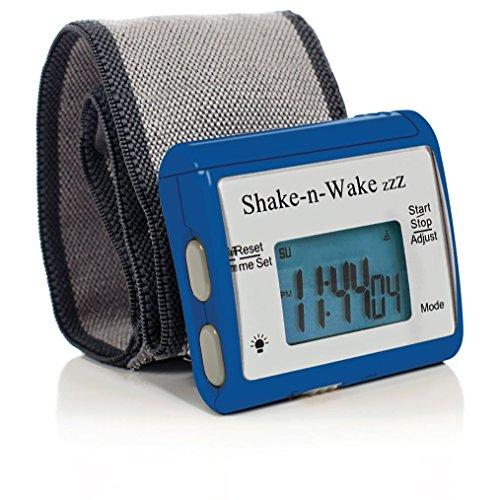 サイレントバイブレーション 振動式目覚まし時計 シェイクン・ウェイク 消音アラーム腕時計 … (Blue ブルー)