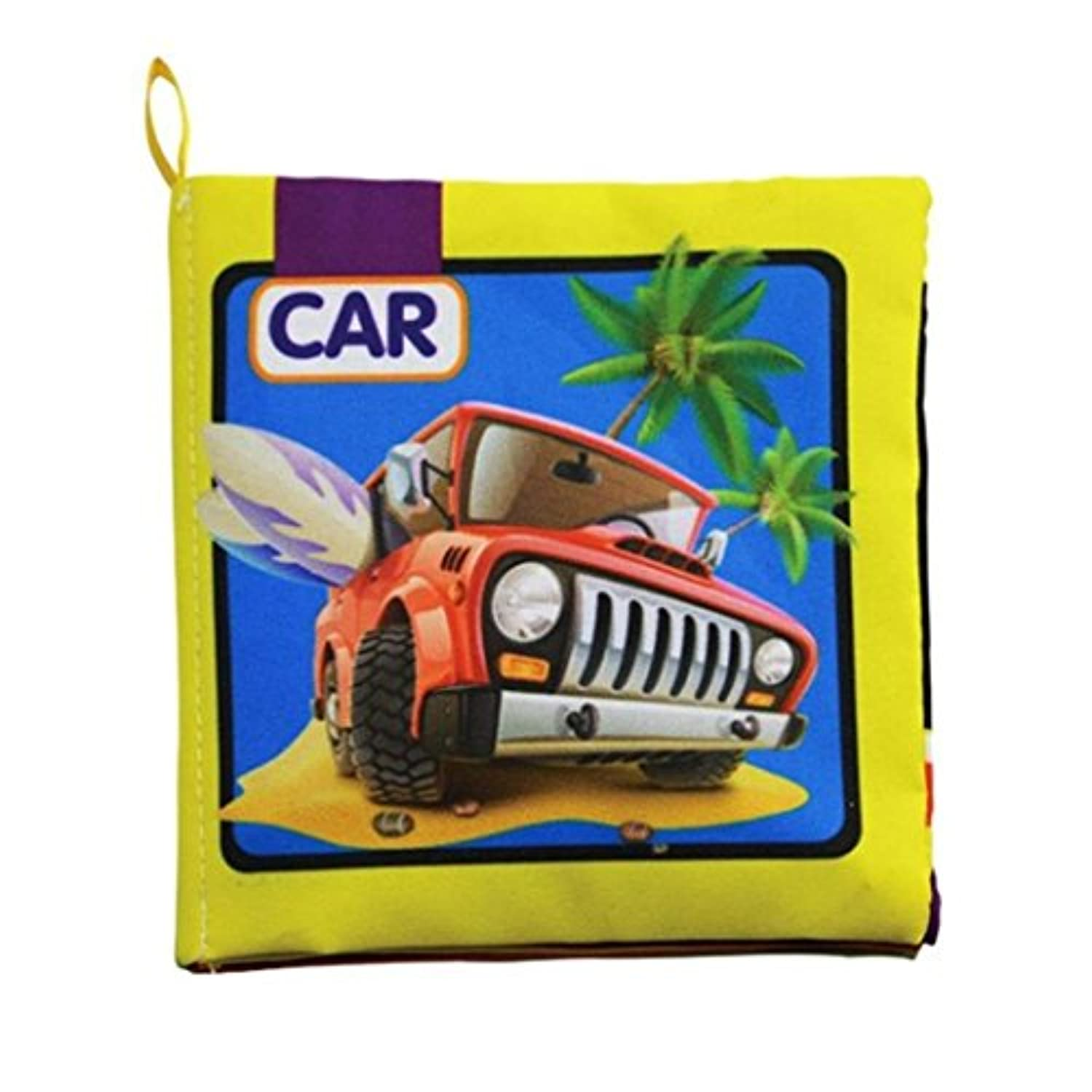 (Traffic) - E-SCENERY Newest Baby Cloth Books, Early Education Learning Toys Activity Crinkle Cloth Book for Toddler, Infants and Kids (Traffic)