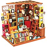 Blesiya 1/24 Dollhouse 3D Wooden Room Kit Miniature Library House Model to Build - Birthday Gifts for Kids