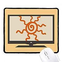オレンジ色のハンドペイントのサンシャインサン マウスパッド・ノンスリップゴムパッドのゲーム事務所