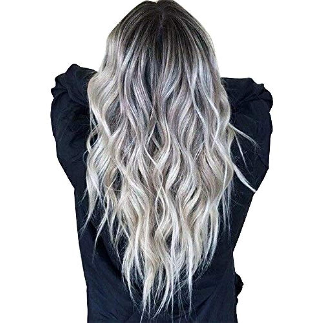 充電マトリックス静脈ウィッグキャップかつらで長いファンシードレスカールウィッグ高品質の人工毛髪コスプレ高密度ウィッグ女性と女の子のためのかつら27.5インチv