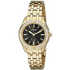シチズン Citizen Womens ウィメンズ レディース 女性用 EM0242-51E Dress Analog Display Japanese Quartz Gold Watch 腕時計 [並行輸入品]