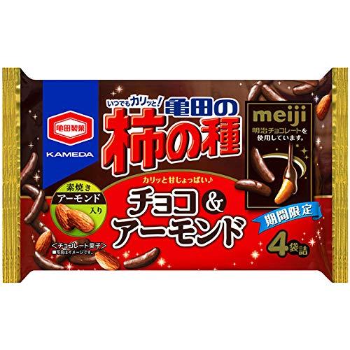 亀田の柿の種(チョコ&アーモンド)の通販の画像